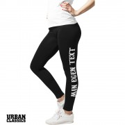 Egen text / namn Sport Leggings - Slim Fit