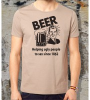 Beer, Helping Ugly People to Sex T-shirt
