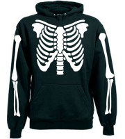 Skeleton Hood With Skulls Hoodie