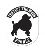 Poodle Protect The Breed Klisterdekal