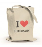 I Love Dobermann Tygpåse