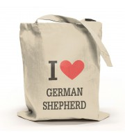 I Love German Shepherd Tygpåse