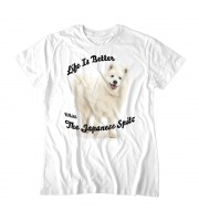 Life Is Better With The Japanese Spitz Topp