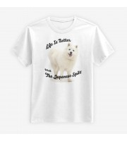 Life Is Better With The Japanese Spitz T-shirt