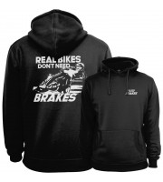 Real Bikes Don't Need Brakes Hoodie