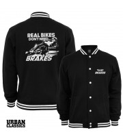 Real Bikes Don't Need Brakes Collegejacka från Urban Classics