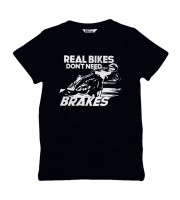 Real Bikes Don't Need Brakes Barn T-shirt