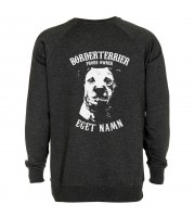 Borderterrier Proud Owner - Eget Namn Sweatshirt
