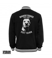 Borderterrier Proud Owner - Eget Namn Collegejacka från Urban Classics
