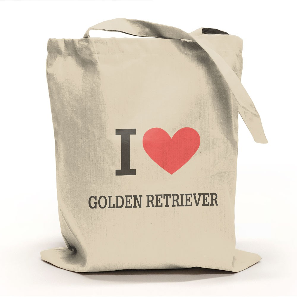 I Love Golden Retriever Tygpåse