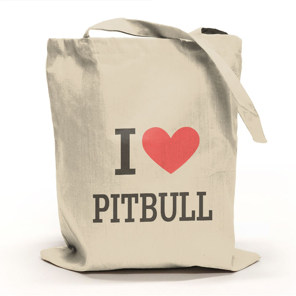 I Love Pitbull Tygpåse