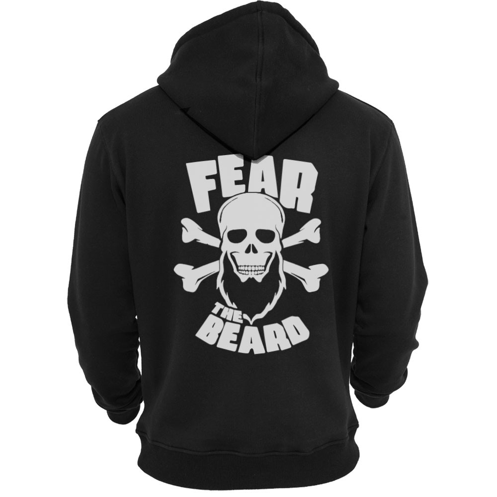 Fear the Beard Rygg Hoodie