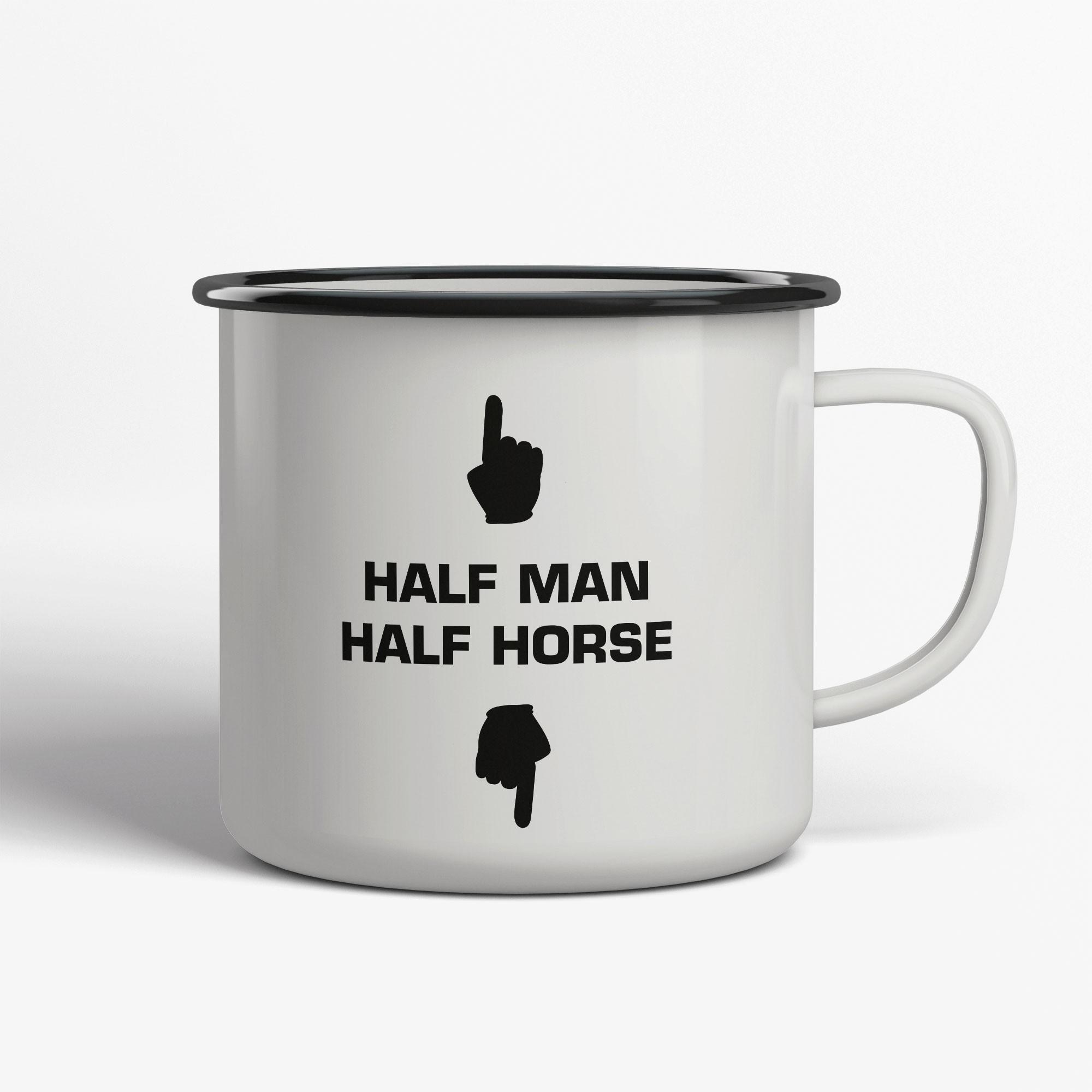 Half Man Halfe Horse Emaljmugg