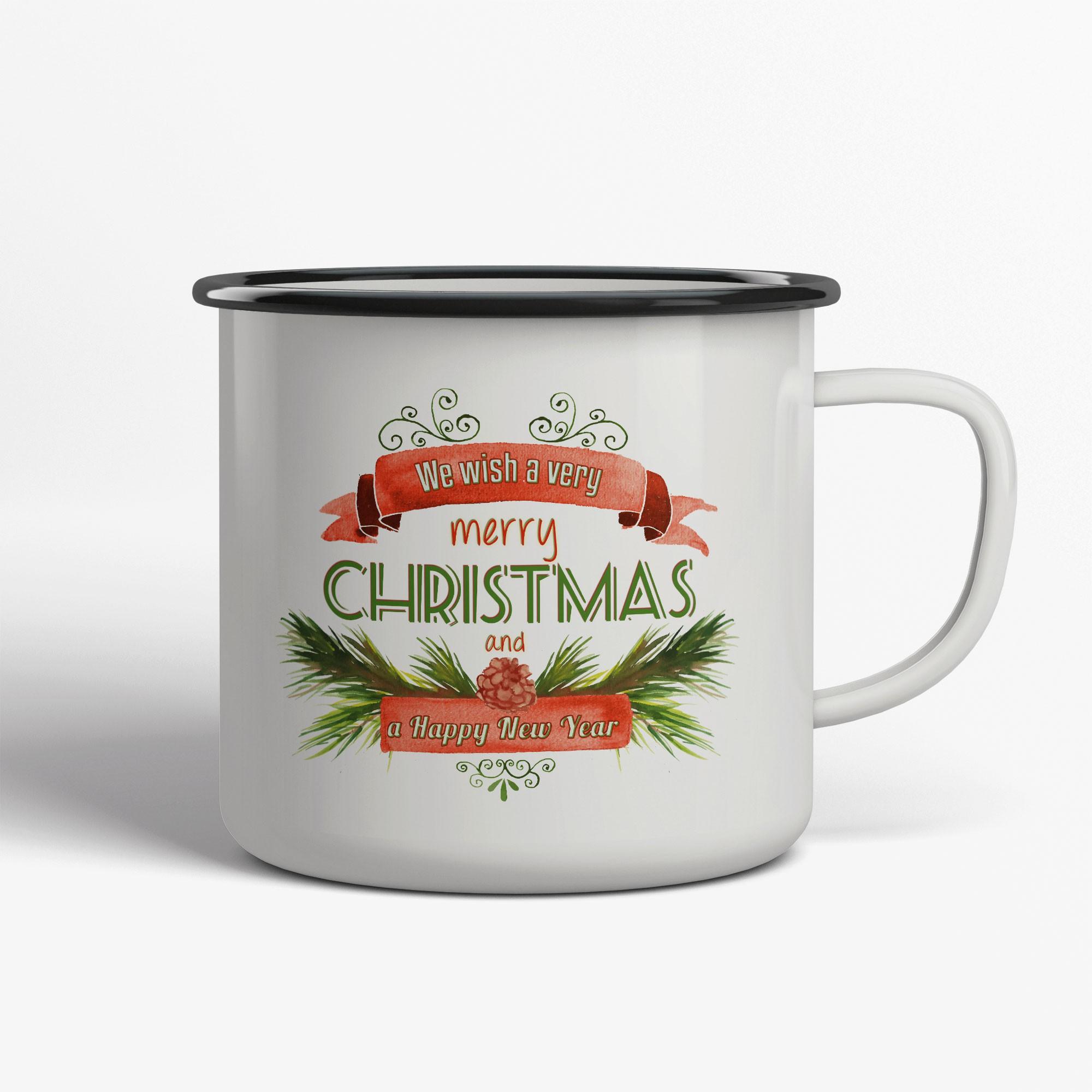 Merry Christmas Emaljmugg