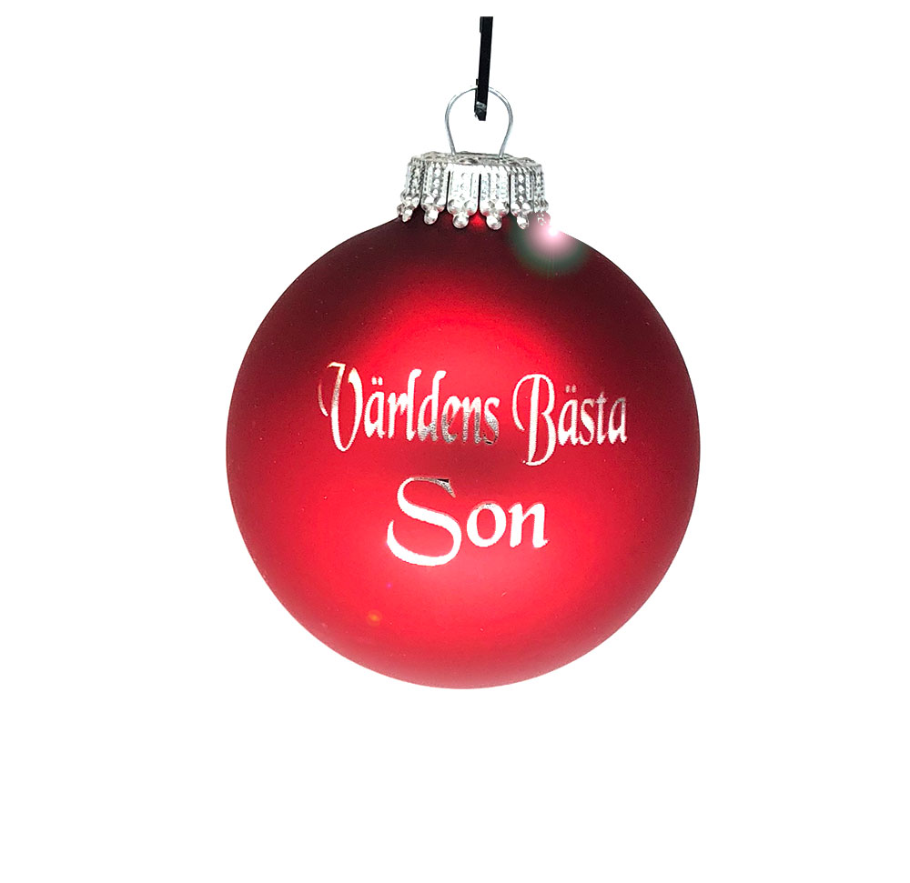 Världens Bästa Son Julgranskula